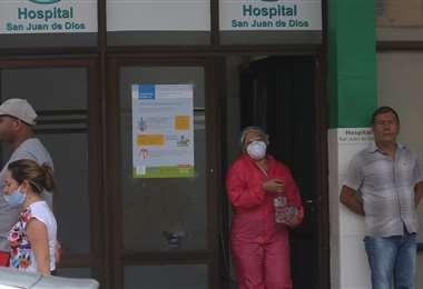 El San Juan de Dios es uno de los hospitales que atiende pacientes de coronavirus /Foto: Jorge Ibáñez