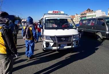 Circulación vehicular en El Alto