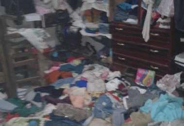En esas condiciones estaba el cuarto donde los menores estaban esposados (Fotos: Felcv)