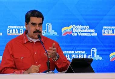 Maduro durante su intervención de este miércoles. Foto AFP