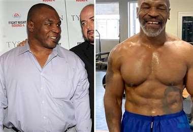 Mike Tyson ahora luce una figura muy atlética y prepara su retorno al cuadrilátero. Foto: Internet.