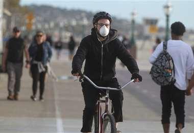 Precaución al andar en bicicleta