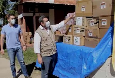 La ayuda para el departamento del Beni partió desde Santa Cruz