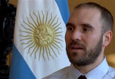 El ministro de Economía argentino. Foto AFP