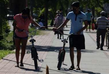 El uso de la bicicleta será permitido durante los fines de semana. Foto Hernán Virgo