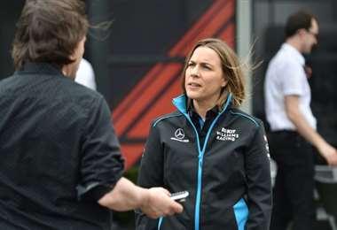 La subdirectora de la escudería de Fórmula 1 Williams, Claire Williams, el 13 de marzo de 2020 en Melbourne .Foto: AFP