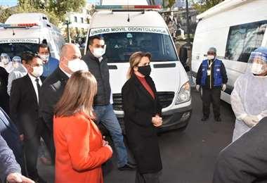 La caravana que ayer partió de La Paz I Palacio.