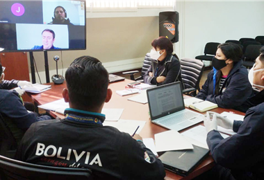 Miembros del ministerio de Deportes y del Comité Olímpico se reunieron el jueves para hablar sobre el retorno a las actividades deportivas en el país. Foto: internet