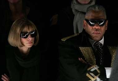 Anna Wintour y André Leon Talley