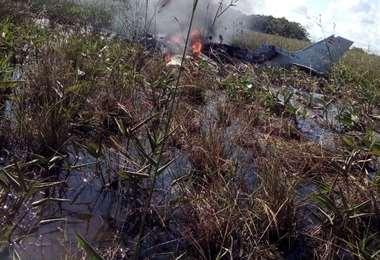 El humo guió a los rescatistas hasta el lugar del siniestro