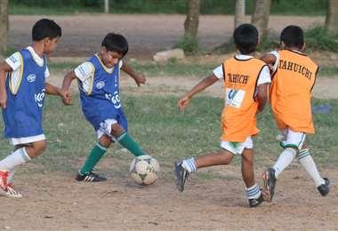 Aproximadamente tres mil niños se forman en la Academia Tahuichi. Foto: Tahuichi