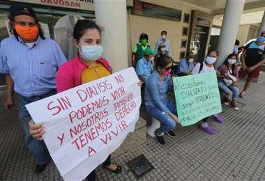 Protestas afuera de Davosan