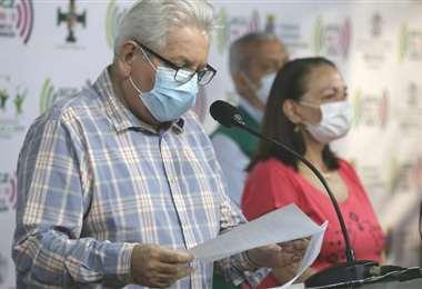 El gobernador de Santa Cruz anunció este viernes que la cuarentena estricta se mantiene en el departamento | Foto: Fuad Landívar