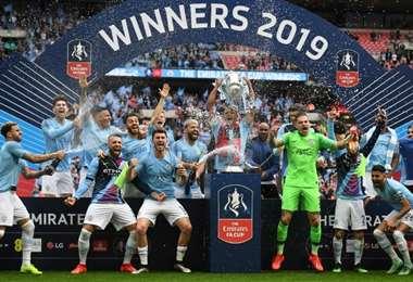 El Manchester City es uno de los clubes protagonisas de la Premier League, que se reiniciará el 17 de junio. Foto: AFP