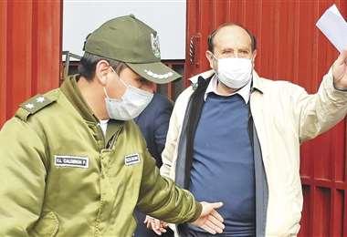 Marcelo Navajas, detenido en La Paz. Foto: APG