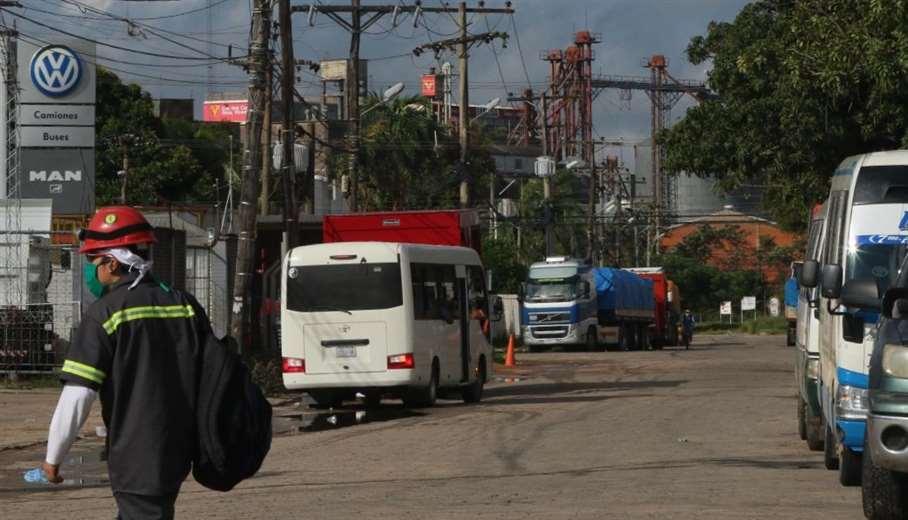 En Santa Cruz el sector industrial ya comenzó a trabajar/Foto: Ricardo Montero