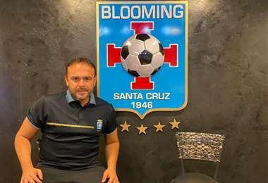 Juan Jordán, presidente del club Blooming. Foto: Blooming