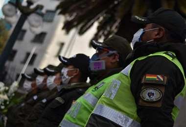Efectivos de la Policía Boliviana I Foto: APG Noticias.
