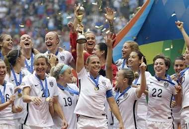 La selección femenina de fútbol de Estados Unidos fue campeona del mundo en 2019. Foto: internet