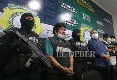 El Puma Rodríguez señaló al diputado Cabrera. Foto Jorge Ibañez