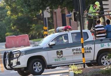 Una patrulla en una de sus acciones policiales