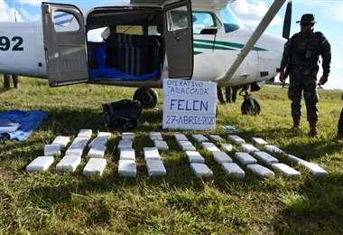 En un anterior operativo, también en Beni, la Policía decomisó gran cantidad de droga. Foto: ABI