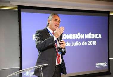El paraguayo Osvaldo Pangrazio está a la cabeza la comisión médica de la Conmebol. Foto: Internet