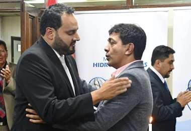 El presidente de YPFB junto al ministro de Hidrocarburos I Foto: archivo.