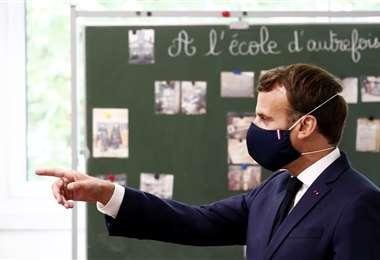 El mandatario francés. Foto AFP
