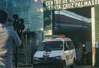 Puerta de ingreso a la cárcel de Palmasola / Foto: Jorge Uechi