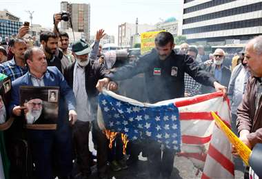 Manifestación contra Estados Unidos en Teherán. Foto AFP