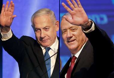 Netanyahu y Gantz, gobernarán Israel. Foto AFP