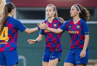 El equipo del Barcelona será proclamado campeón de la liga femenina en España. Foto: Internet