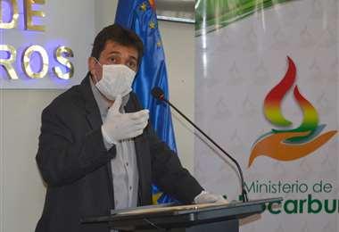 Ministro de Hidrocarburos, Víctor Hugo Zamora I Foto: archivo.