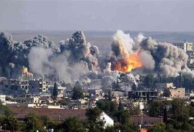 Un bombardeo en Siria. Foto Internet
