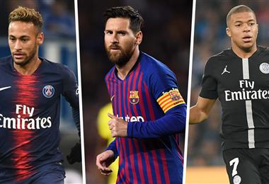Neymar, Messi y Mbappé son los jugadores más caros, aunque sus fichas perderán un poco su valor por la crisis sanitaría que tendrá implicancias económicas. Foto: internet