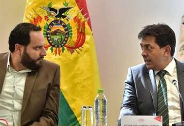 El expresidente de YPFB junto al ministro de Hidrocarburos