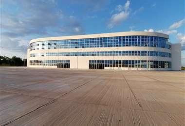 Parte de las instalaciones de la nueva terminal de buses fueron habilitadas para acoger a los pacientes con coronavirus.