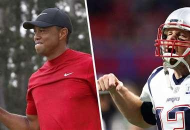 Tiger Woods y Tom Brady son dos de las figuras invitadas a participar del partido de gol benéfico el 24 de mayo. Foto: internet