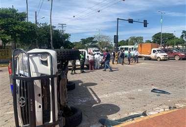 Accidente de tránsito. Foto: Javier Vargas
