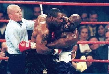 En junio de 1997 Tyson y Hollifield se enfrentaron en una histórica pelea. Foto: internet