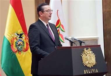 El ministro Ortiz acepta el cargo en un momento muy complicado para el país. ABI