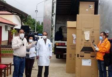 El Gobierno entregó el 7 de abril el Laboratorio PCR para análisis de Covid-19 al hospital San Pedro Claver-Lajastambo de Sucre. Foto: ABI