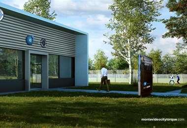 Fachada de los que será el nuevo centro de entrenamiento en Montevideo. Foto: internet