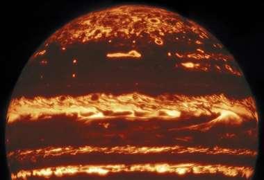 La imagen que fue mostrada por los astrónomos. Foto La Nación