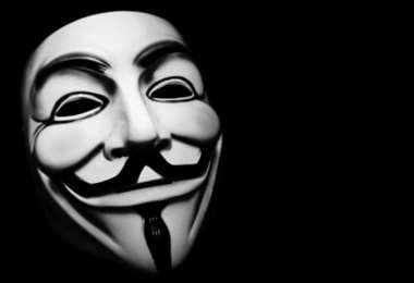 la máscara que utiliza el grupo de cibernautas. Foto Internet