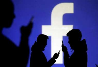 Una imagen con el logo de facebook. Foto Internet