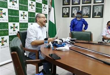 El presidente cívico Rómulo Calvo hizo conocer la posición cívica frente a las elecciones