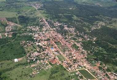 Vista aérea de la población javiereña. Foto EL DEBER