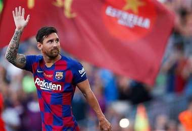Messi lleva marcados 19 goles en el presente torneo español. Foto: internet